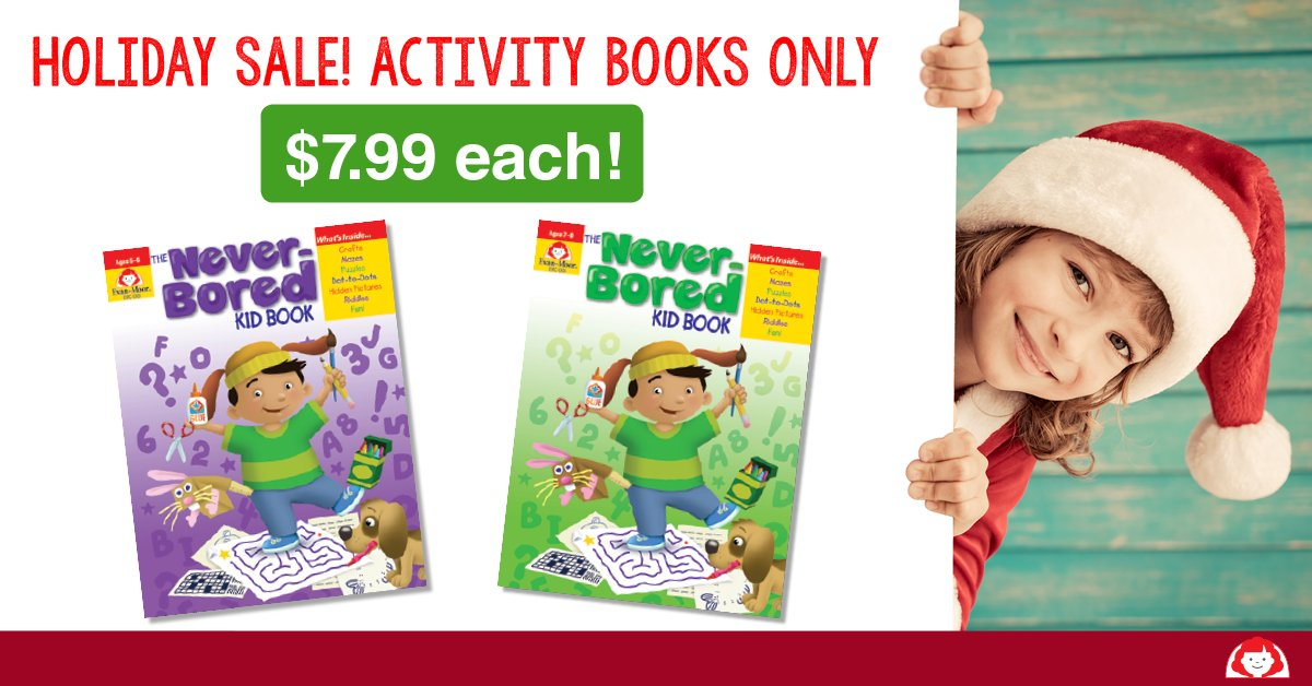Last chance! Save 20% today. These activity books keep kids entertained for...